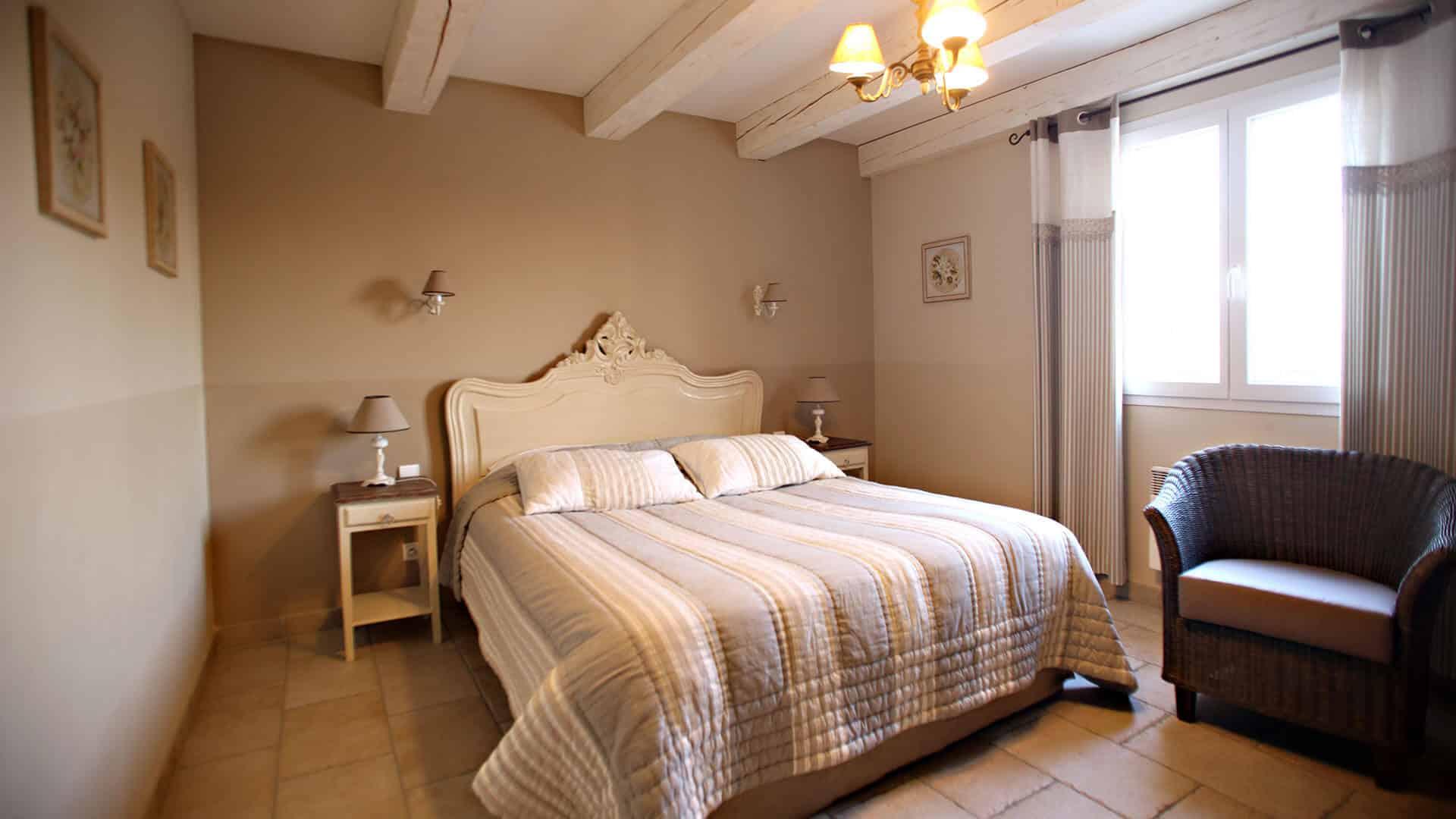 Louer villa vacances Provence Alpes Côte d'Azur | Villa les coquelicots | Chambre double romantique