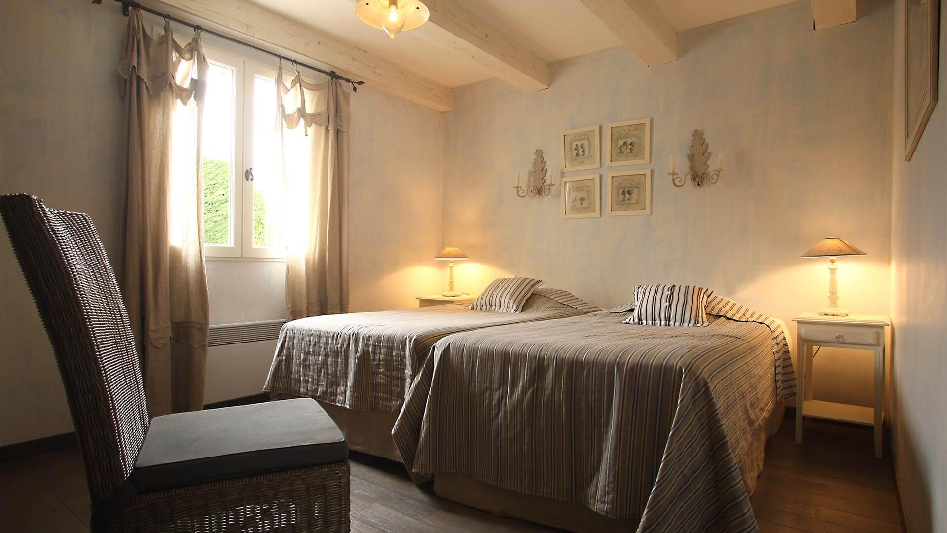 Location saisonnière maison Alpes de Haute Provence | Villa terre d'orange | Chambre deux lits