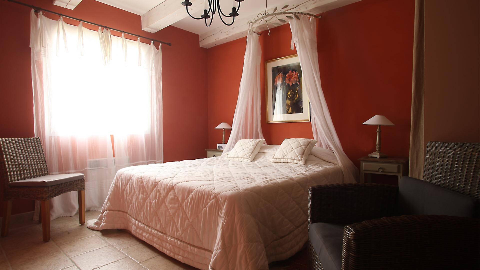 Louer maison de vacances Provence | Villa terre d'ocre | Chambre double de charme