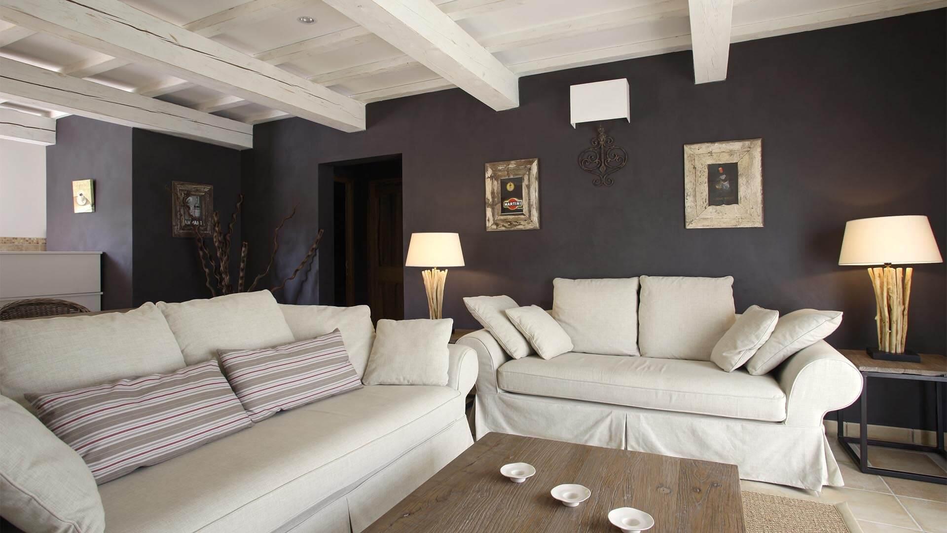 Location maison de vacances Provence | Villa la source | Salon climatisé